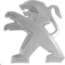 Emblème sur capot pour PEUGEOT 208 DE 04/2012 A 05/2015